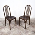 A pair of original Josef Hoffmann dining chairs of the thirties