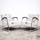 A pair of original Mücke Melder armchair from the thirties - exact description follows