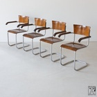 Cantilever tubular steel chairs by Mart Stam