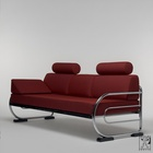 tubular steel couch/daybed in the design of the Czechoslovakian Modernism